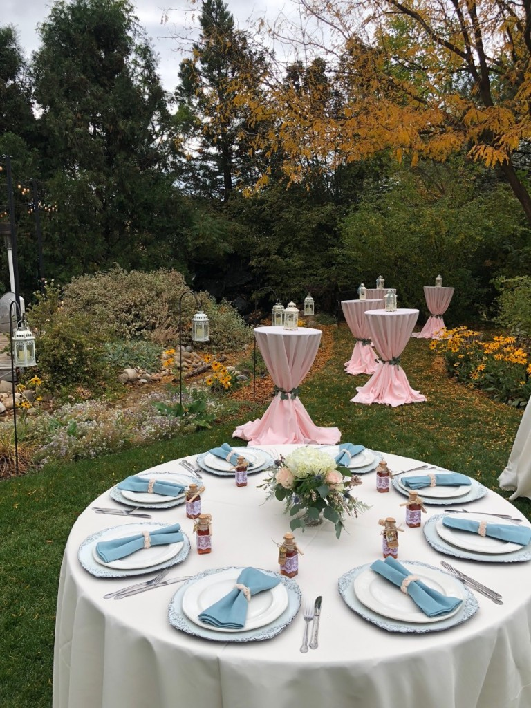 Outdoor Wedding Catering Setup